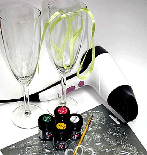 Как оформляют свадебные бокалы своими руками фото 425