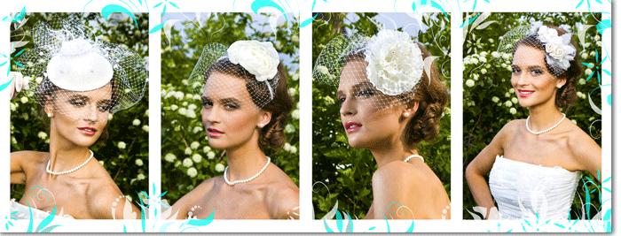 свадебные шляпки с вуалью Iambride