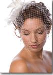 свадебные вуали, свадебные шляпки, шляпки с вуалью