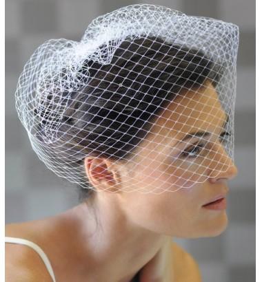 Свадебная вуаль шляпка без украшения