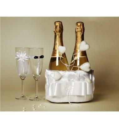 Свадебное шампанское украшение №11