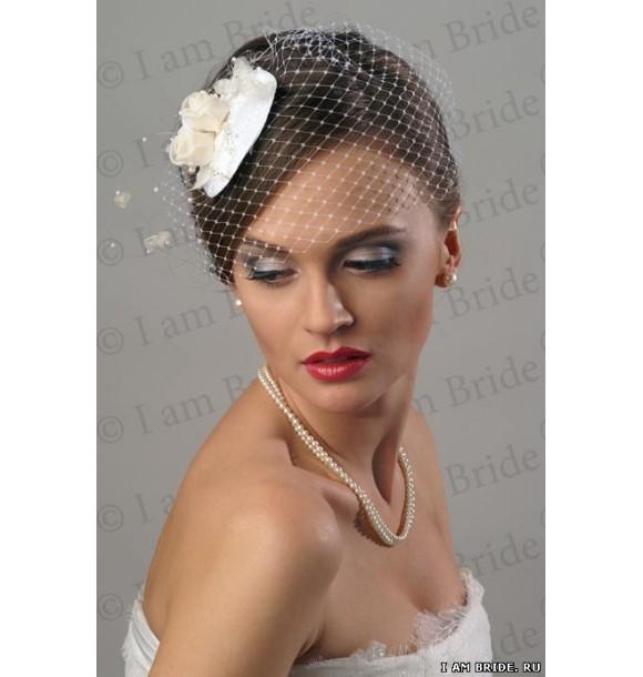 Свадебная шляпка с вуалью - Свадебная шляпка с вуалью Christine