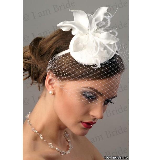 Свадебная шляпка с вуалью своими руками