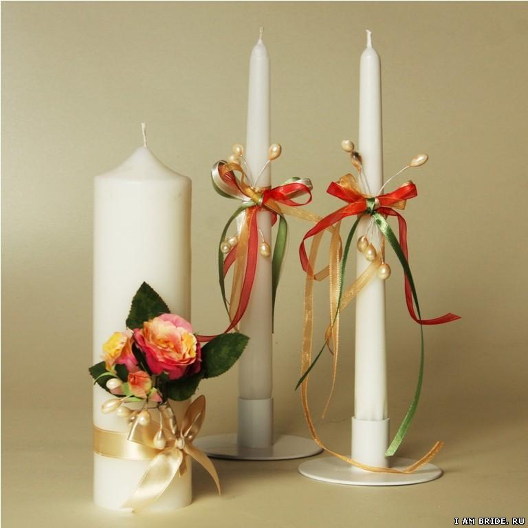 Как оформить свечи своими руками 299