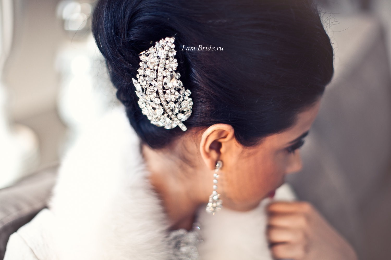 Украшение в волосы невесте фото